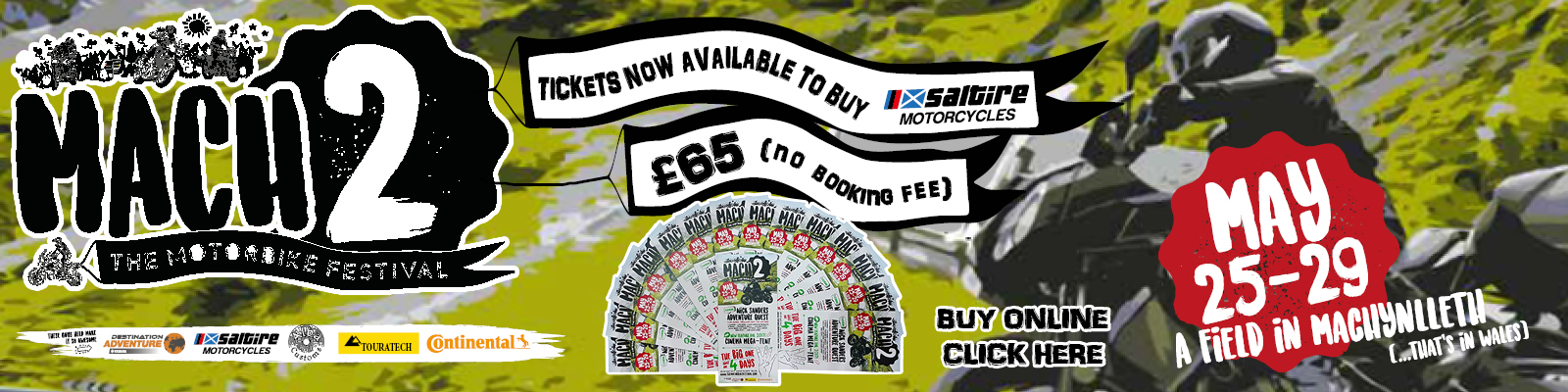 Nick Sanders Mach2, The Motorbike Festival – May 25th to 29th – Weekend Ticket