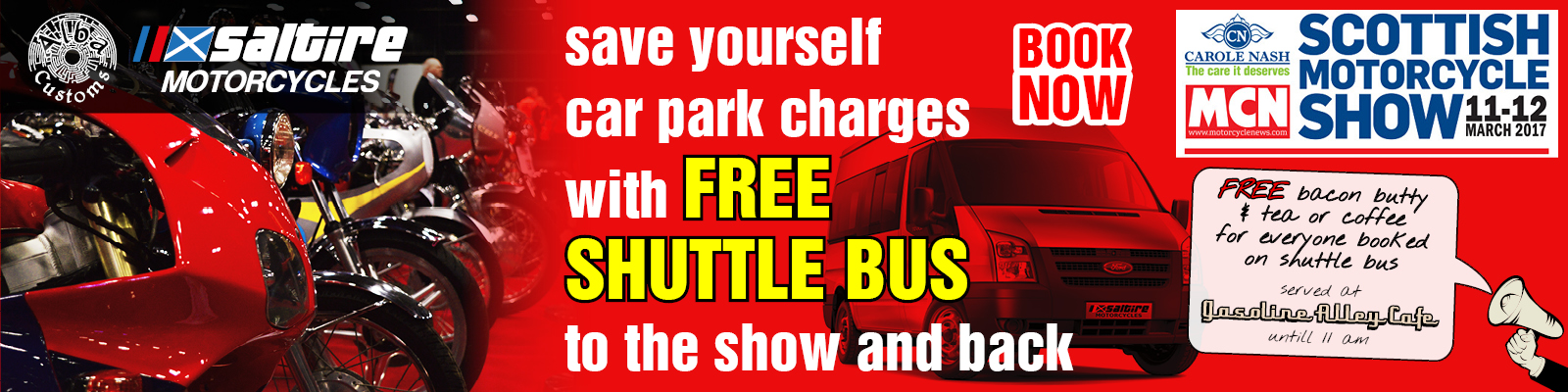 MCN Scottish Motorcycle Show Shuttle Bus