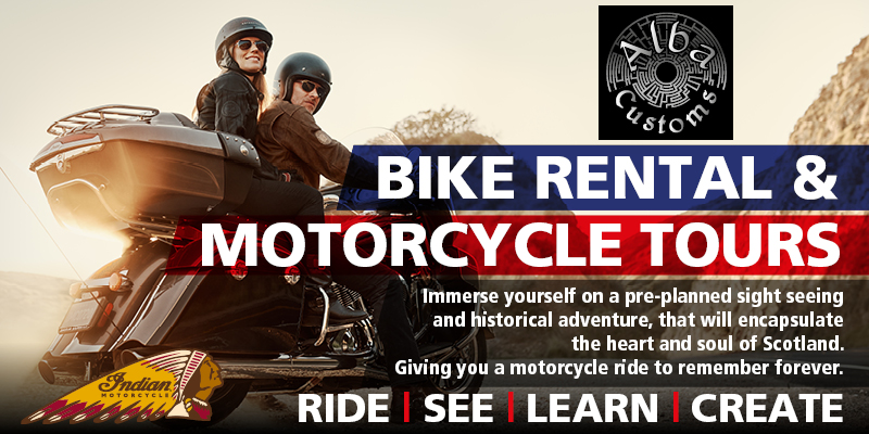 Bike hire & motorcycle tours Alba Customs