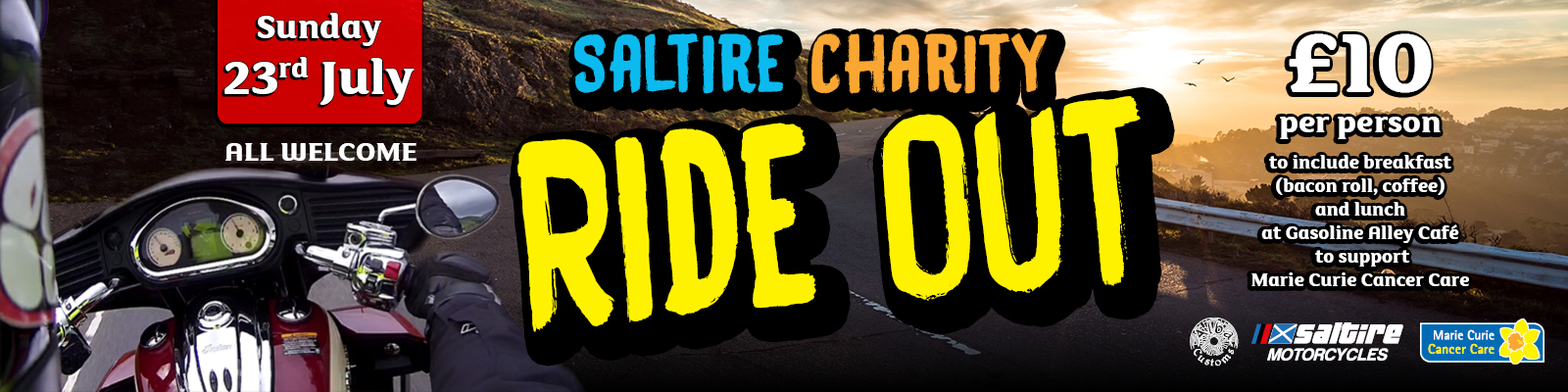 charity ride out Marie Curie online