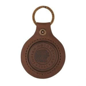 Indian Motorcycle Icon Leather Keyring