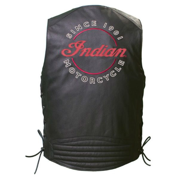 Indian Motorcycle Leather Vest Back