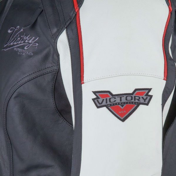 Victory Motorcycles Ladies Cascade Leather Jacket Detail