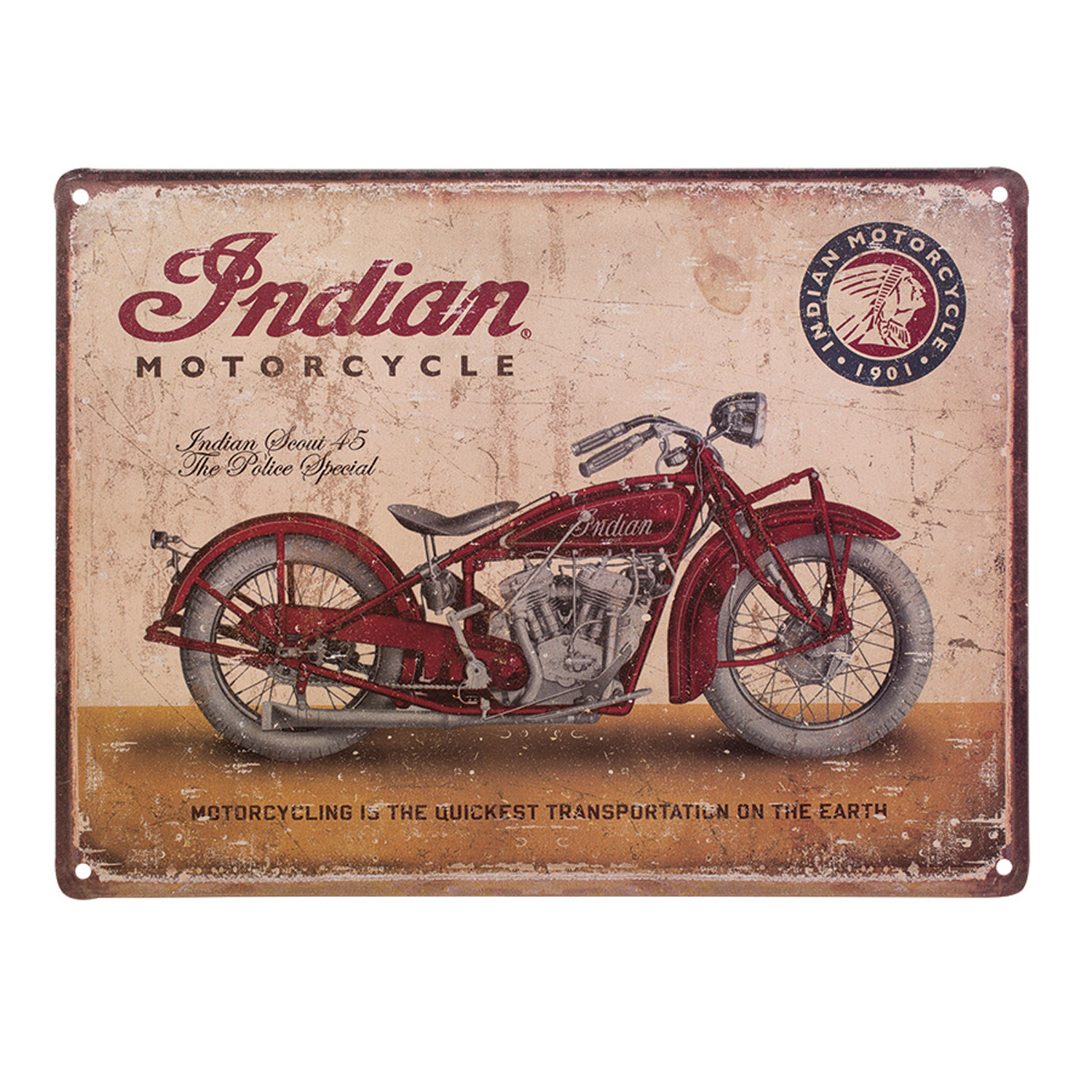 Indian MOtorcycle Scout 45 Metal Sign