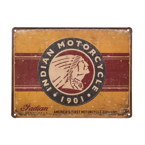 Indian Motorcycle First Motorcycle Metal Sign