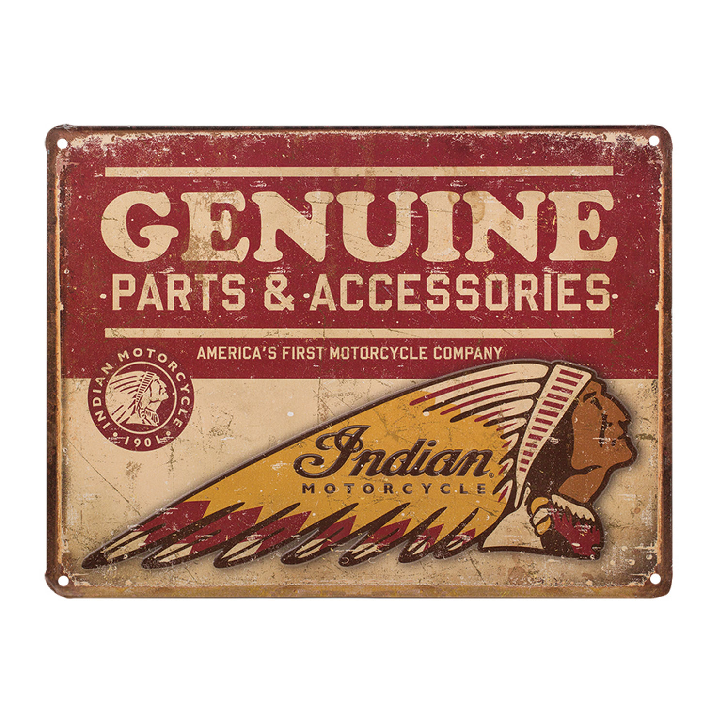 Indian Motorcycle Genuine Parts Accessories Metal Sign