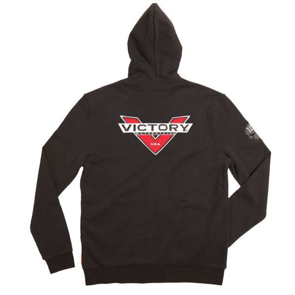Victory Motorcycles Badge Attitude Hoodie back