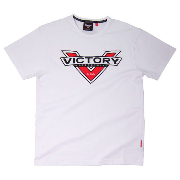 Victory Motorcycles Badge Logo White T-Shirt