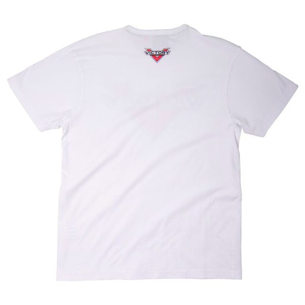 Victory Motorcycles Badge Logo White T-Shirt back