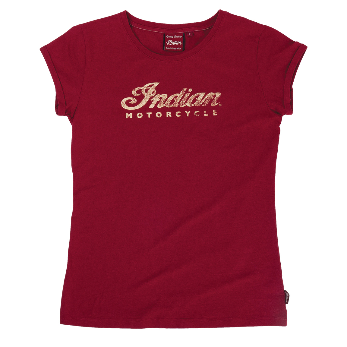 Indian Motorcycle Ladies Logo Red T-Shirt