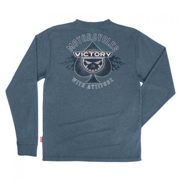 Victory Motorcycle Attitude Spade Long Sleeve Tee Back