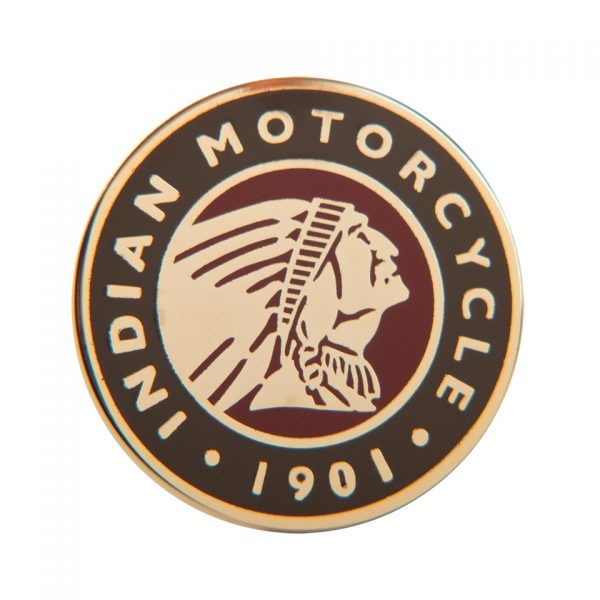 Indian Motorcycle Circle Logo Pin Badge