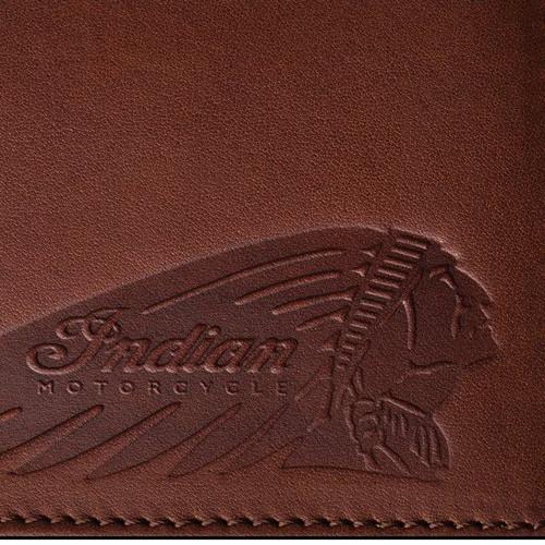 Indian Motorcycle Slim Clip Wallet Detail