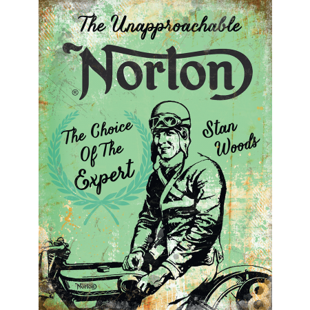 Norton Motorcycles Stan Woods Metal Sign