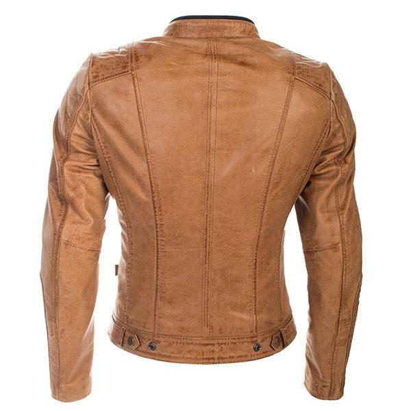 Richa Lausanne Ladies Leather Jacket Cognac Back