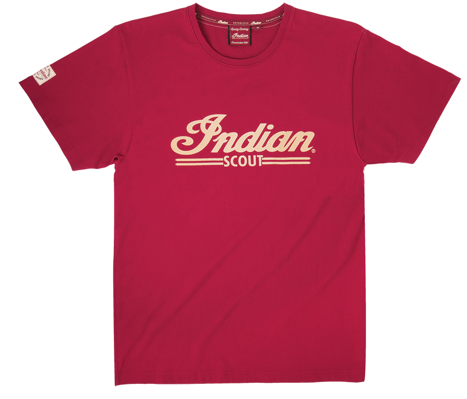 SCOUT LOGO TEE RED CORE