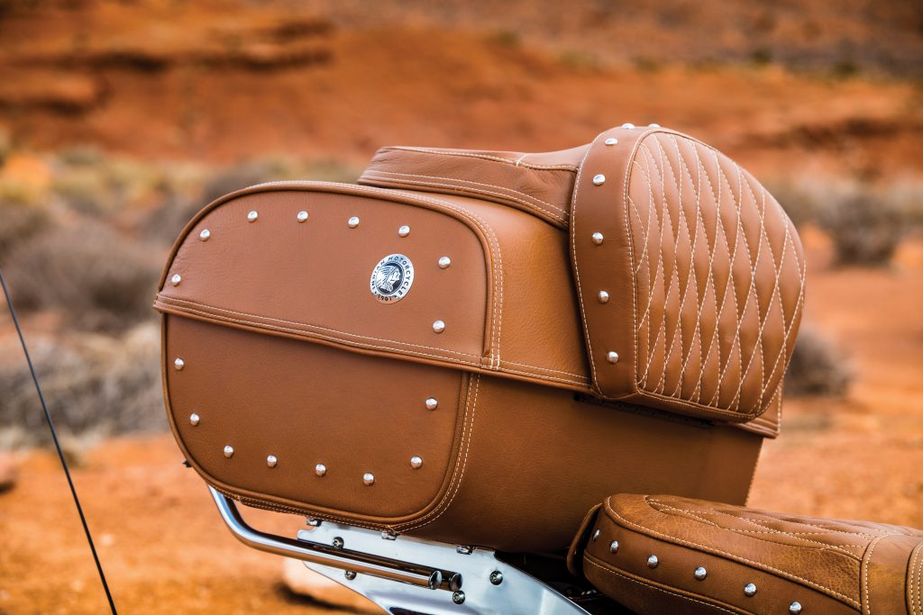 2017 Roadmaster Classic - Trunk also supports the thickly padded (and comfortable) backrest for the passenger