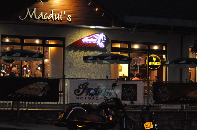 Alba Customs in association with Indian Motorcycle and Macduis, Aviemore - the first Indian Pub in the world