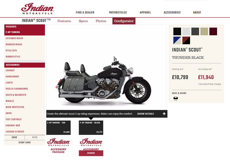 configurator Indian motorcycle