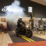 Indian Scout Bobber Launch burnout indoor Alba Customs
