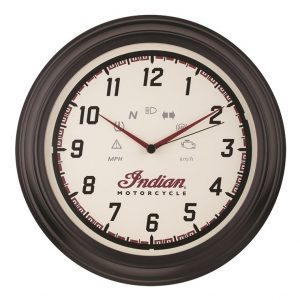 Indian Motorcycle Speedometer Wall Clock