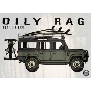 Oily Rag Alloy Sign - Landrover