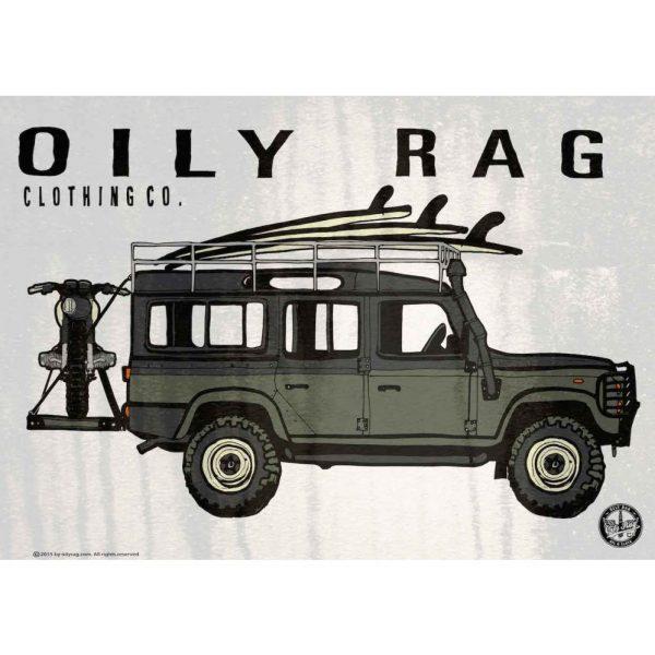 Oily Rag Alloy Sign - Landrover