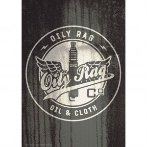Oily Rag Alloy Sign - Oil & Cloth
