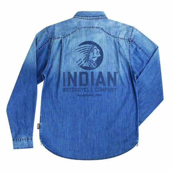 Indian Motorcycle Icon Denim Shirt Back