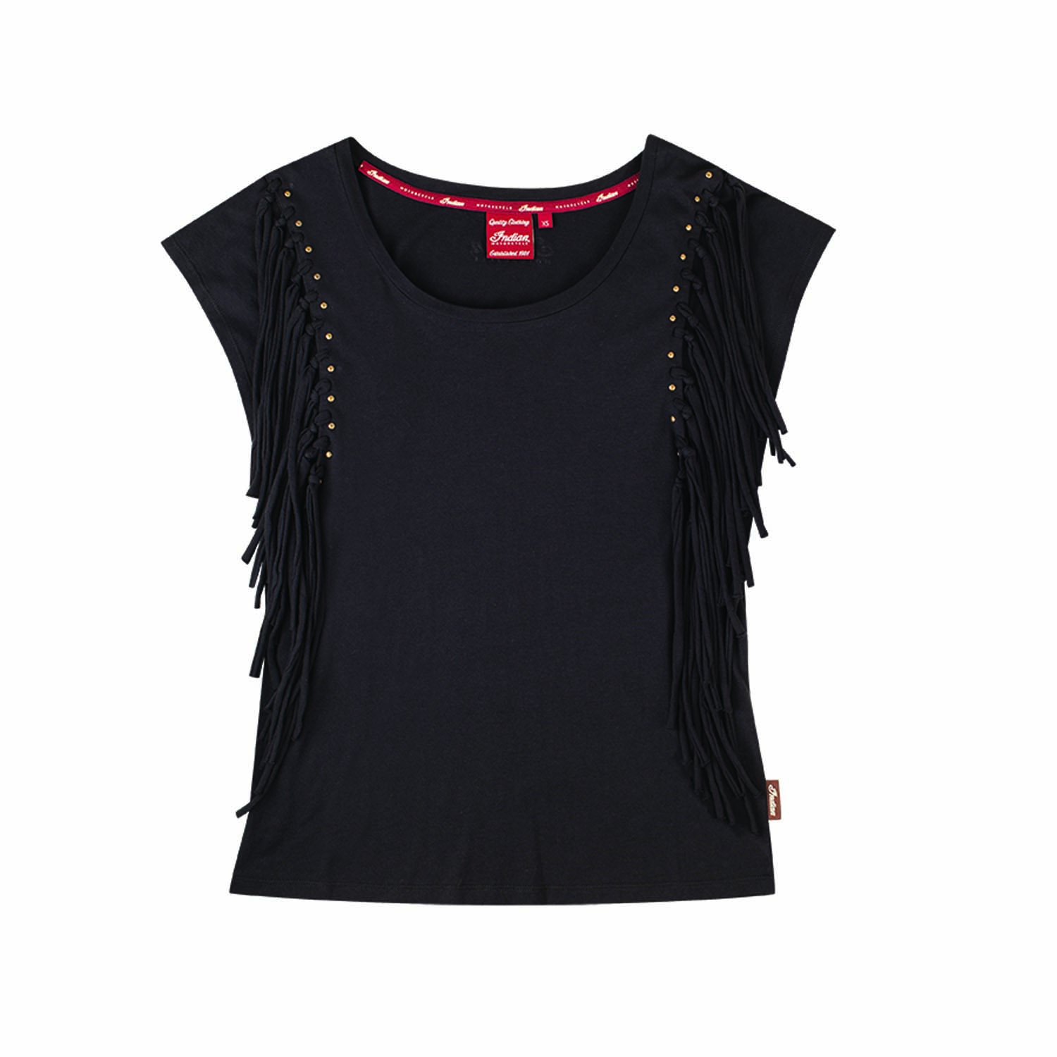 Indian Motorcycle Ladies Black Fringe Tee