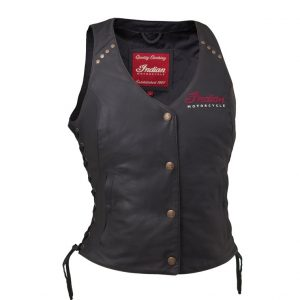 Indian Motorcycle Ladies Leather Vest