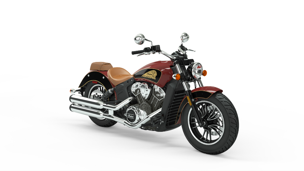 2019 Indian Scout Indian Red over Thunder Black