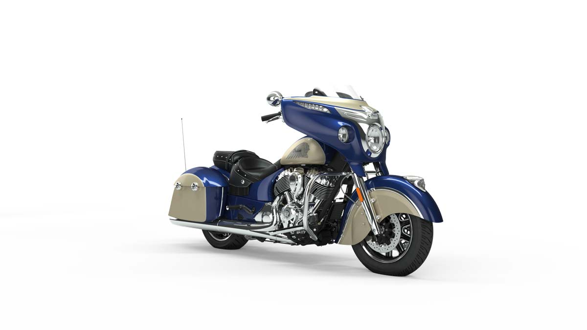 2019 Chieftain Classic Deep Water Metallic over Dirt Track Tan