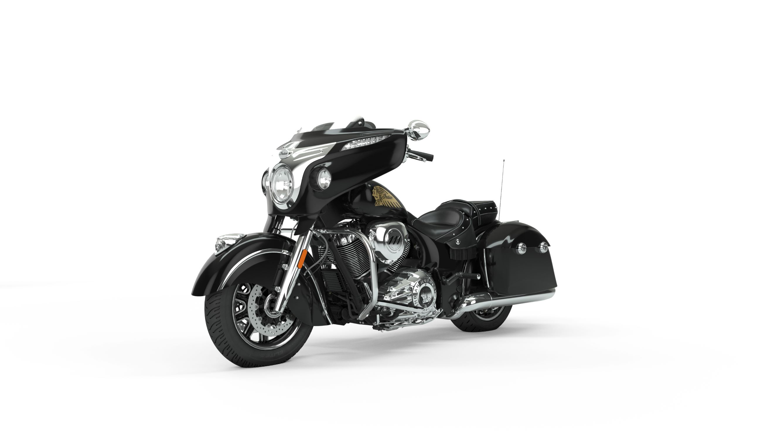 2019 Chieftain Classic Thunder Black Front Left 3Q