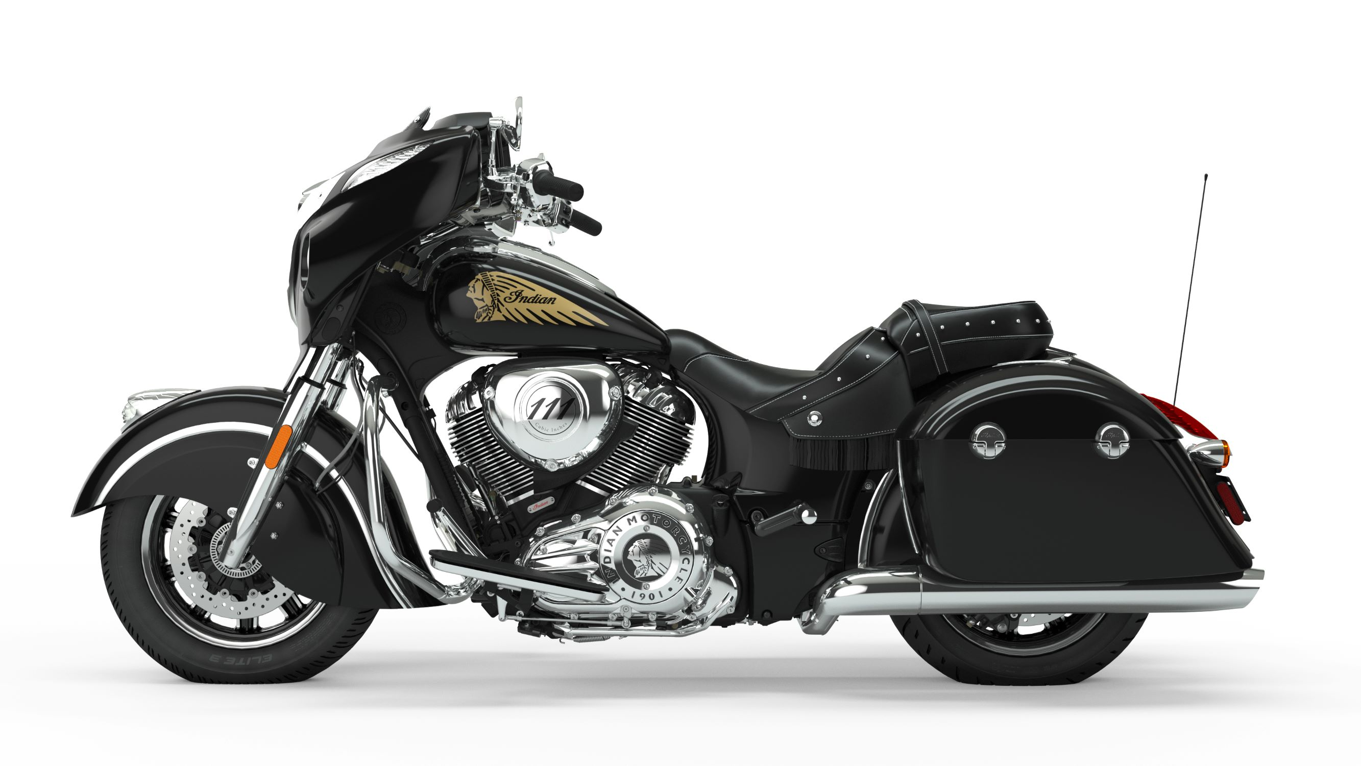 2019 Chieftain Classic Thunder Black Left