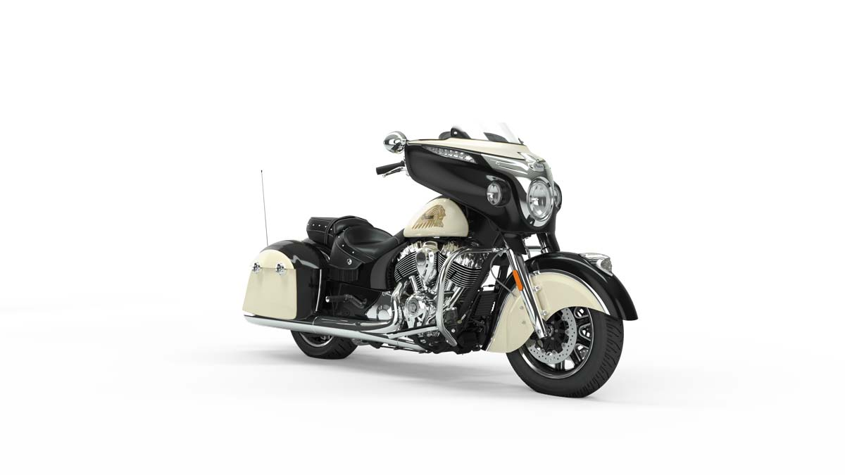 2019 Chieftain Classic Thunder Black over Ivory Cream