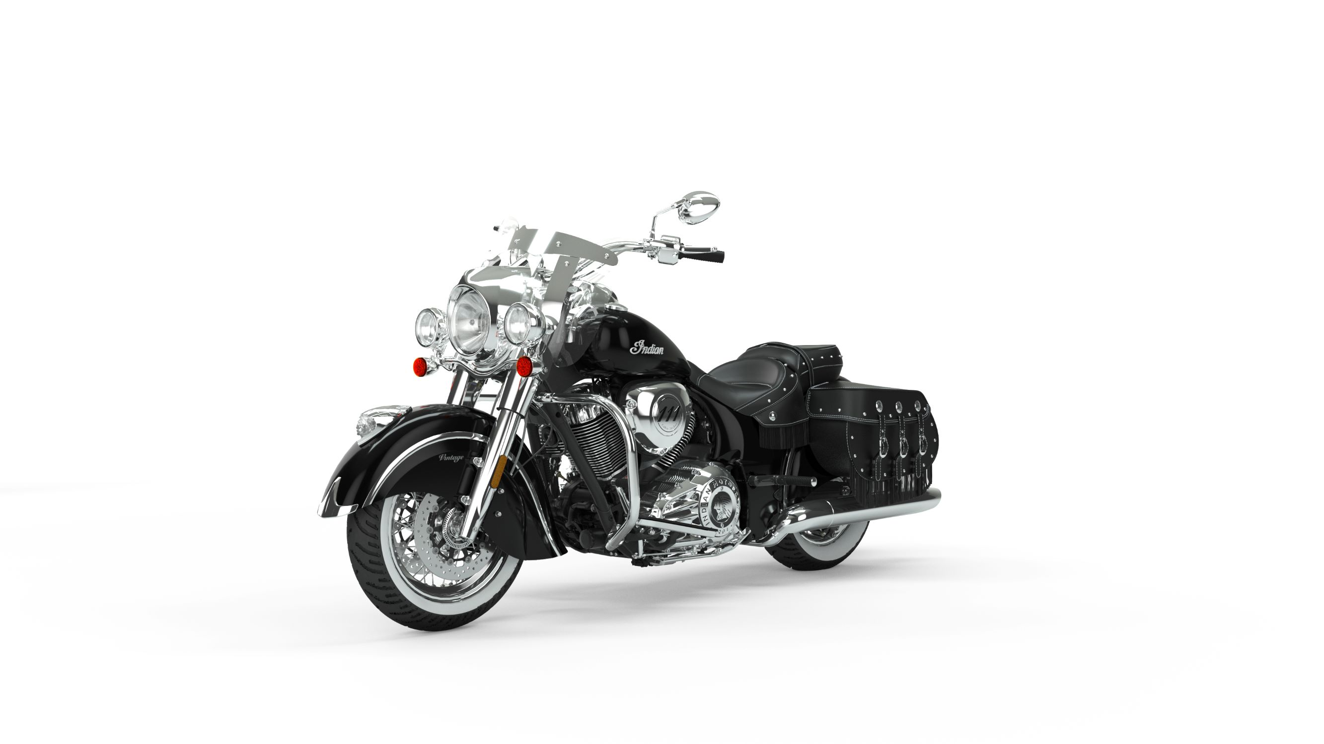 2019 Indian Chief Vintage Thunder Black Front 3Q