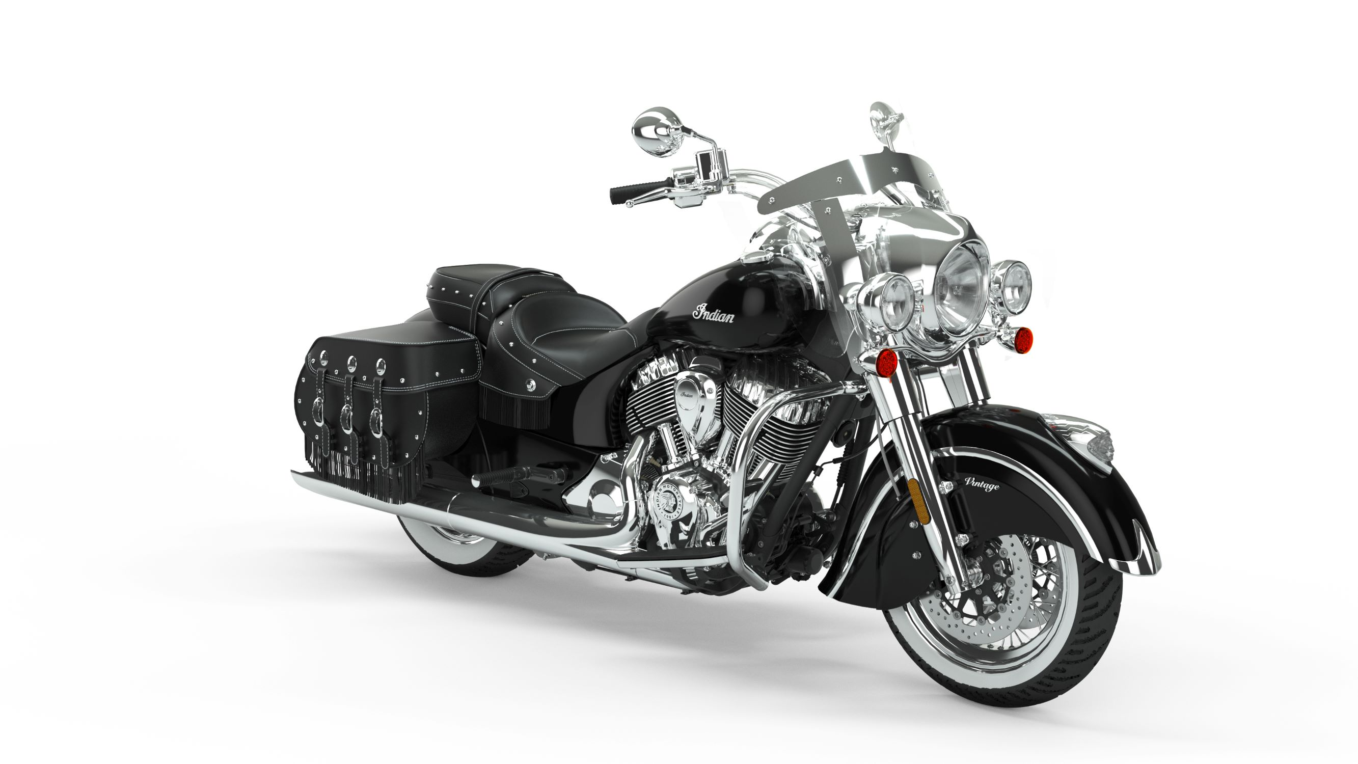 2019 Indian Chief Vintage Thunder Black Front Right 3Q
