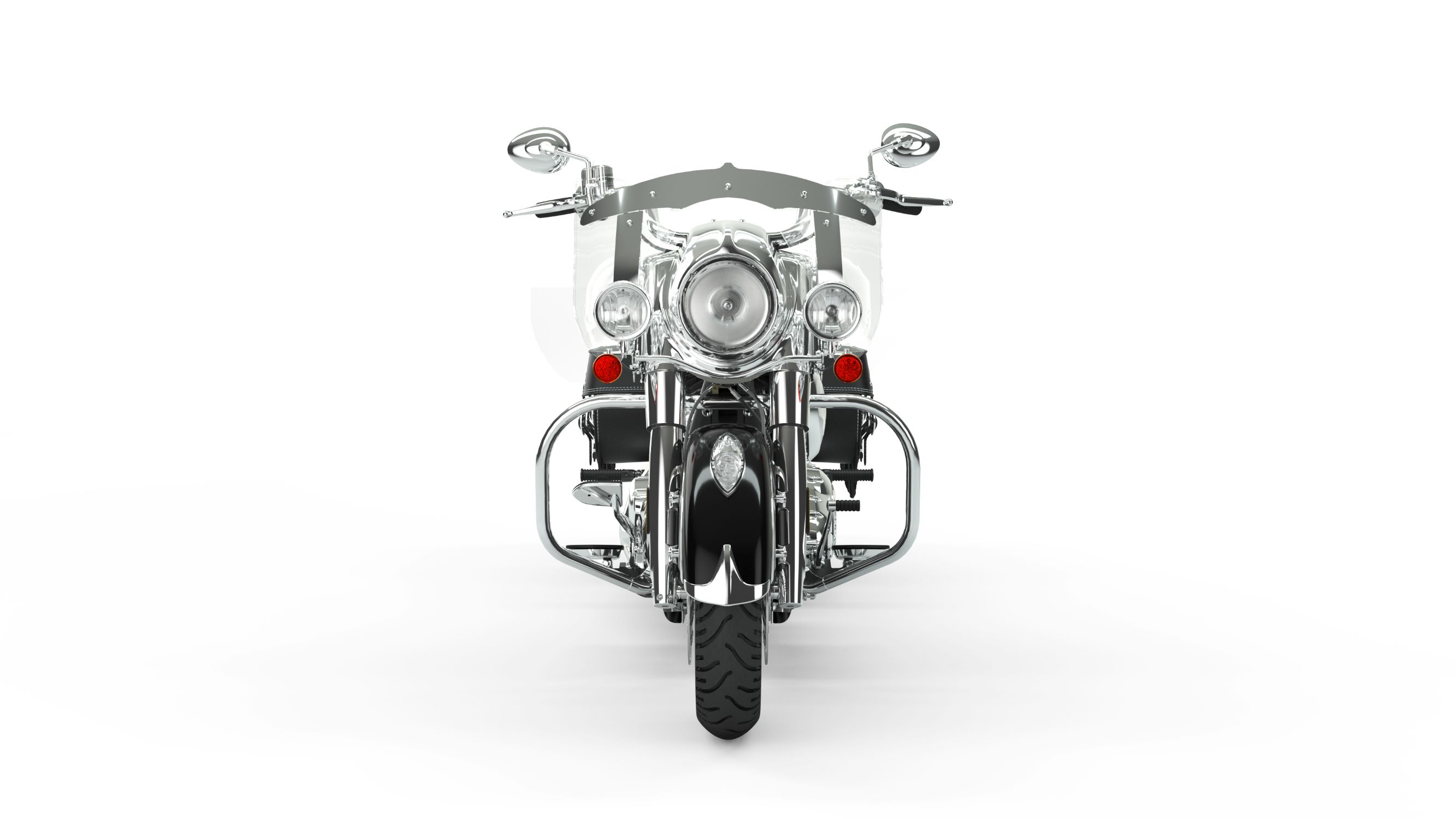 2019 Indian Chief Vintage Thunder Black Front