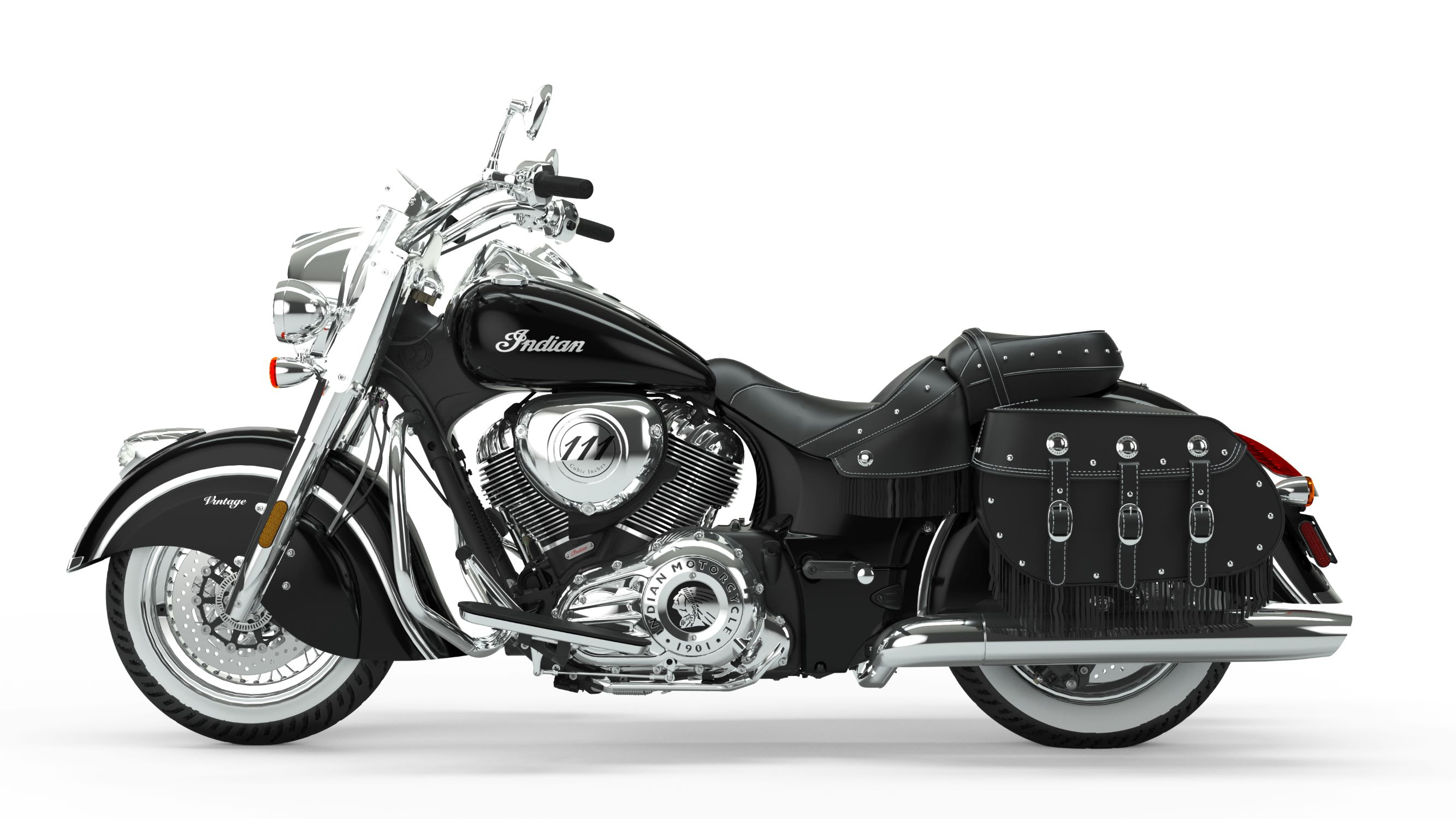 2019 Indian Chief Vintage Thunder Black Left