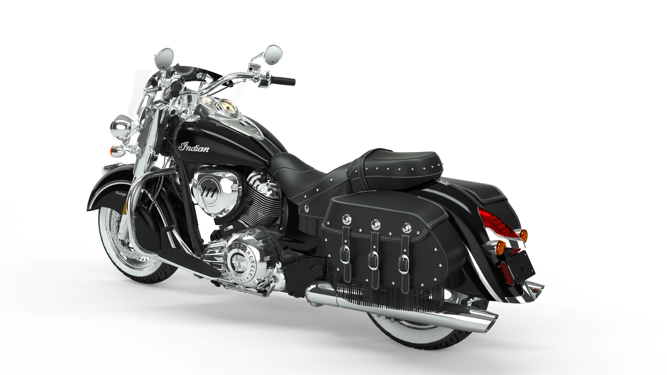 2019 Indian Chief Vintage Thunder Black Rear Left 3Q