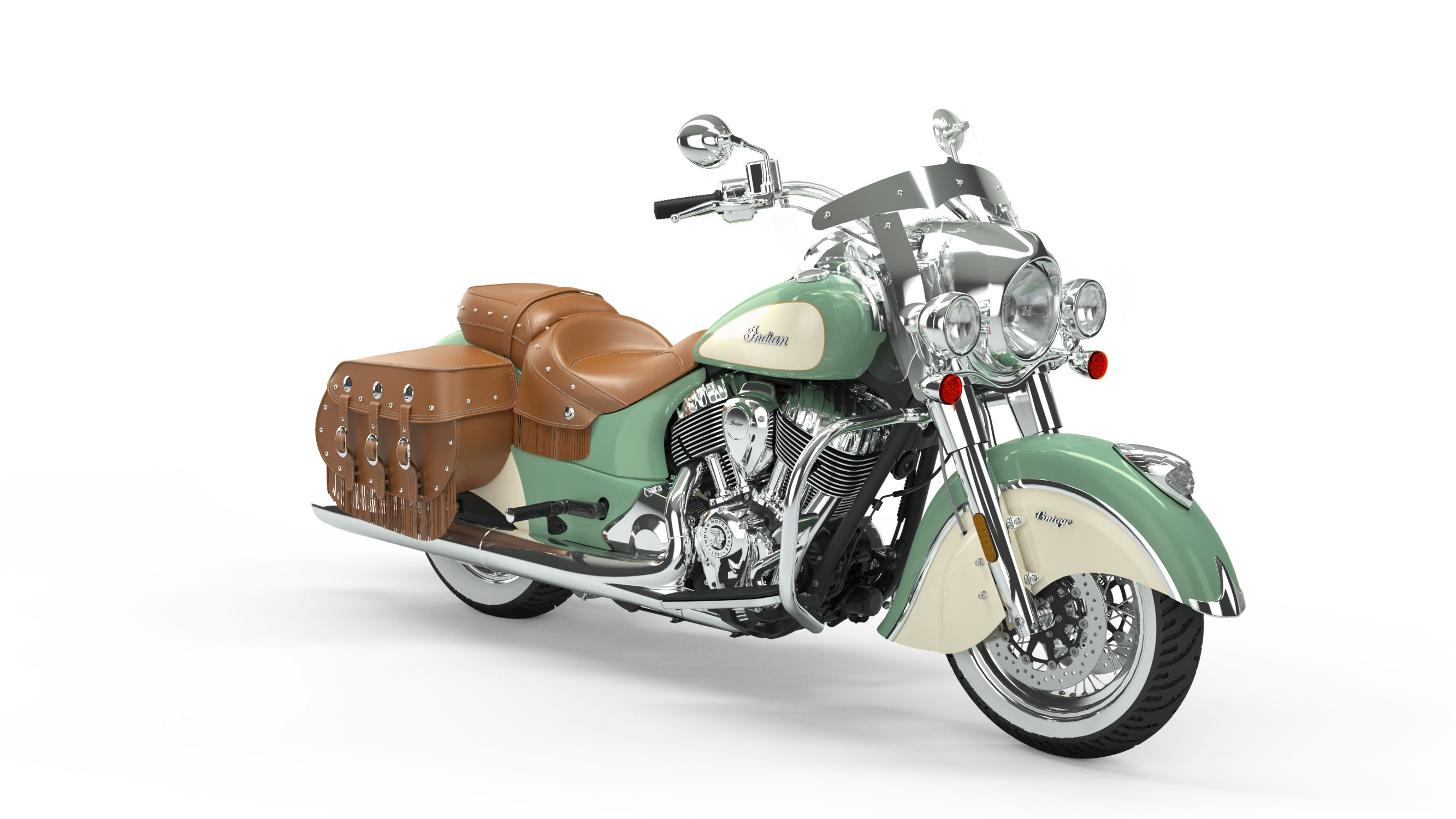 2019 Indian Chief Vintage Willow Green over Ivory Cream