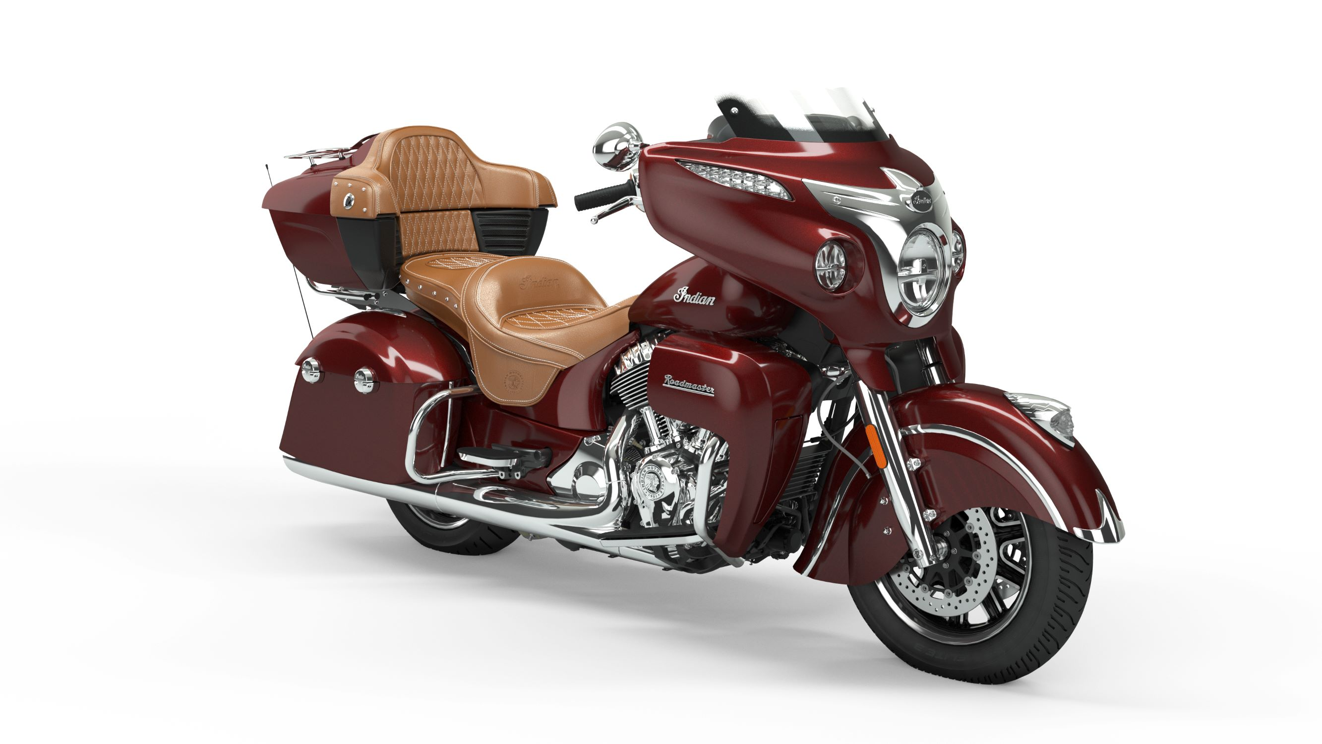 2019 Roadmaster Burgundy Metallic Front Right 3Q