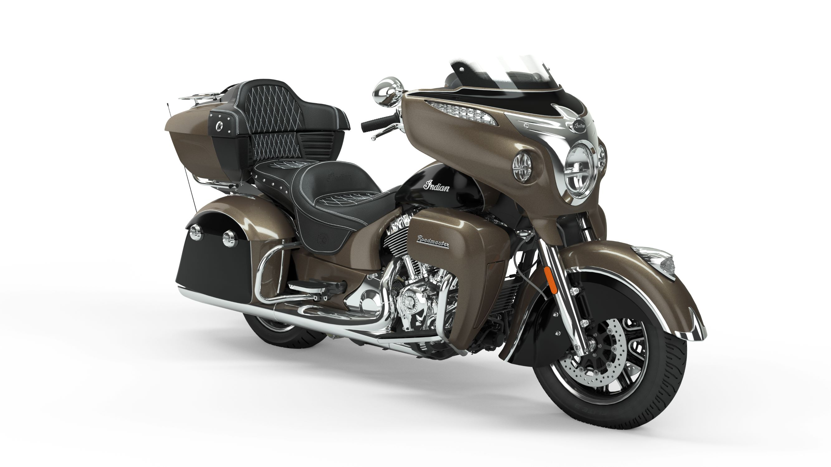 2019 Roadmaster Polished Bronze Over Thunder Black Front Right 3Q