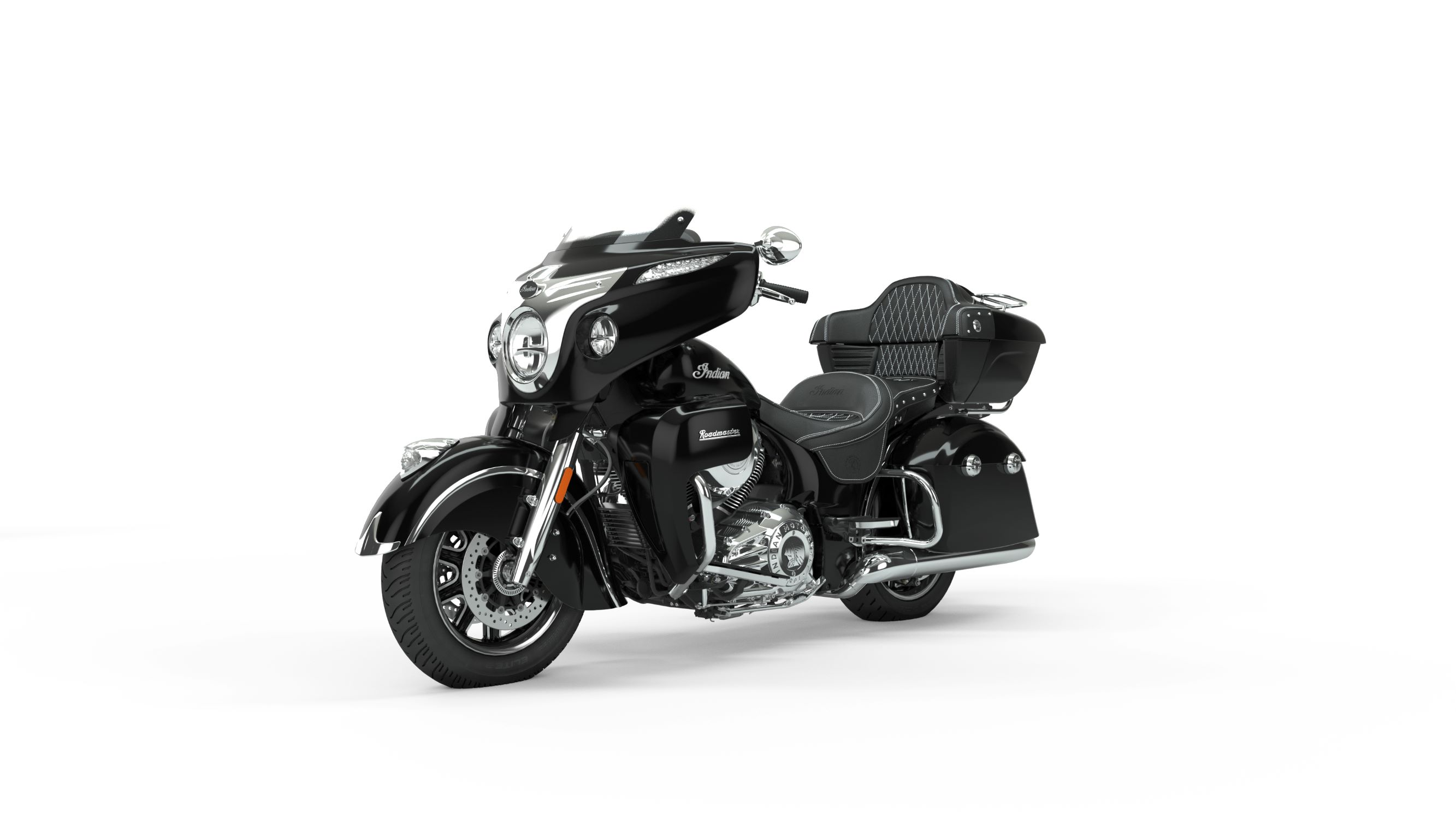 2019 Roadmaster Thunder Black Front Left 3Q