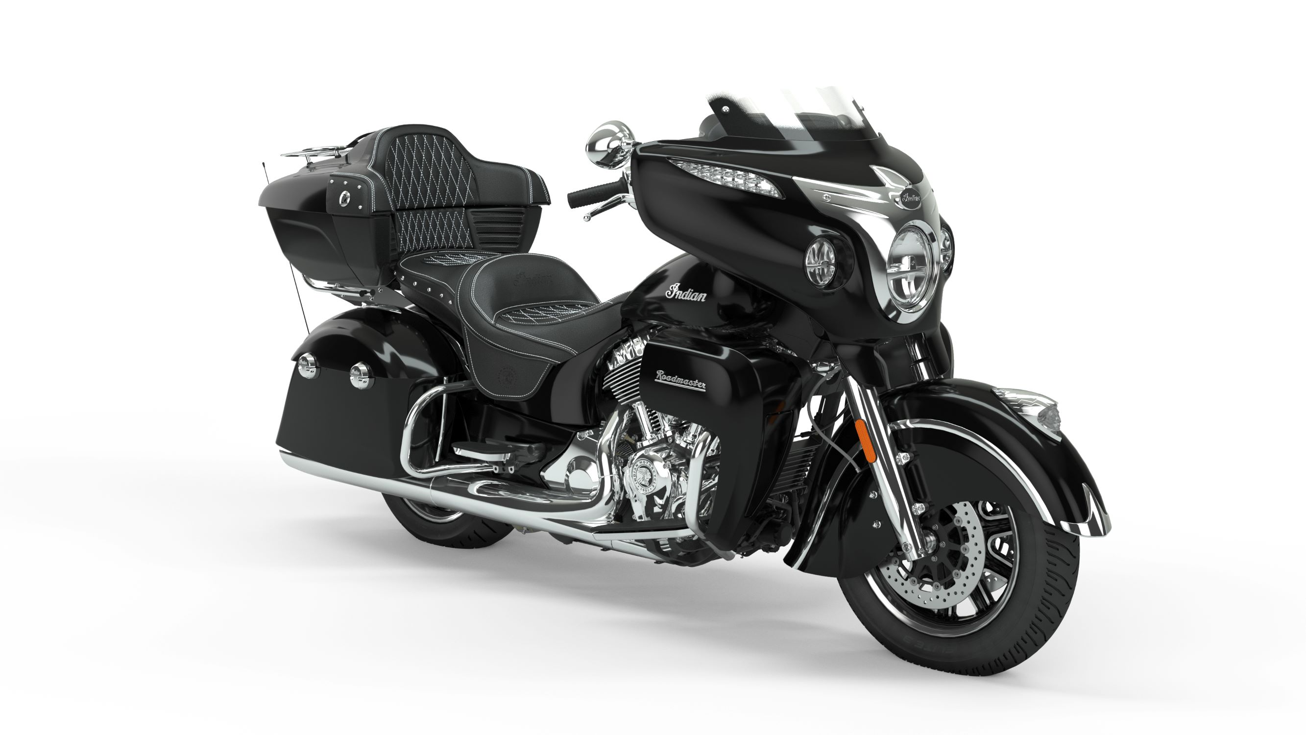 2019 Roadmaster Thunder Black Front Right 3Q