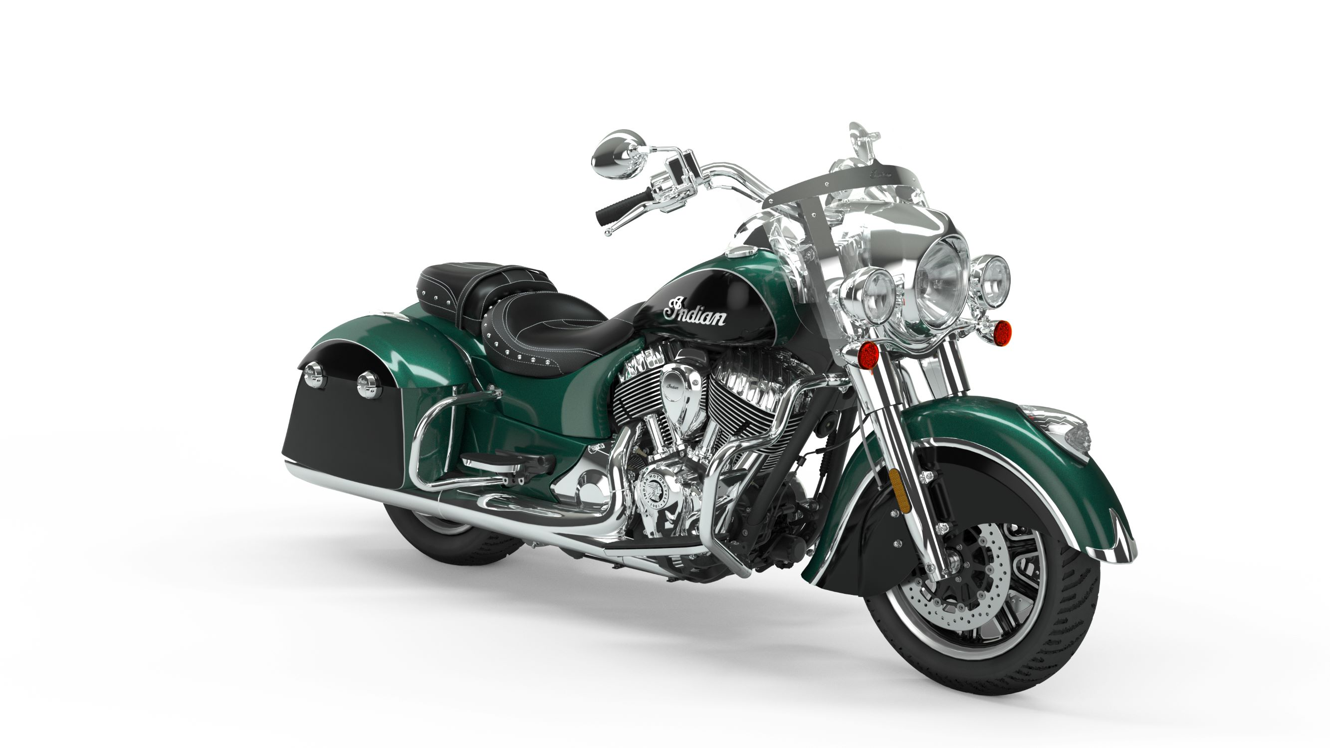 2019 Springfield Metallic Jade over Thunder Black Front Right 3Q