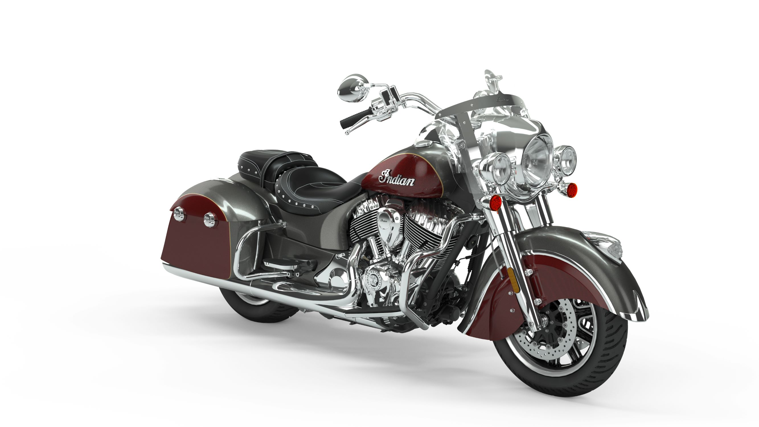 2019 Springfield Steel Grey over Burgundy Metallic Front Right 3Q