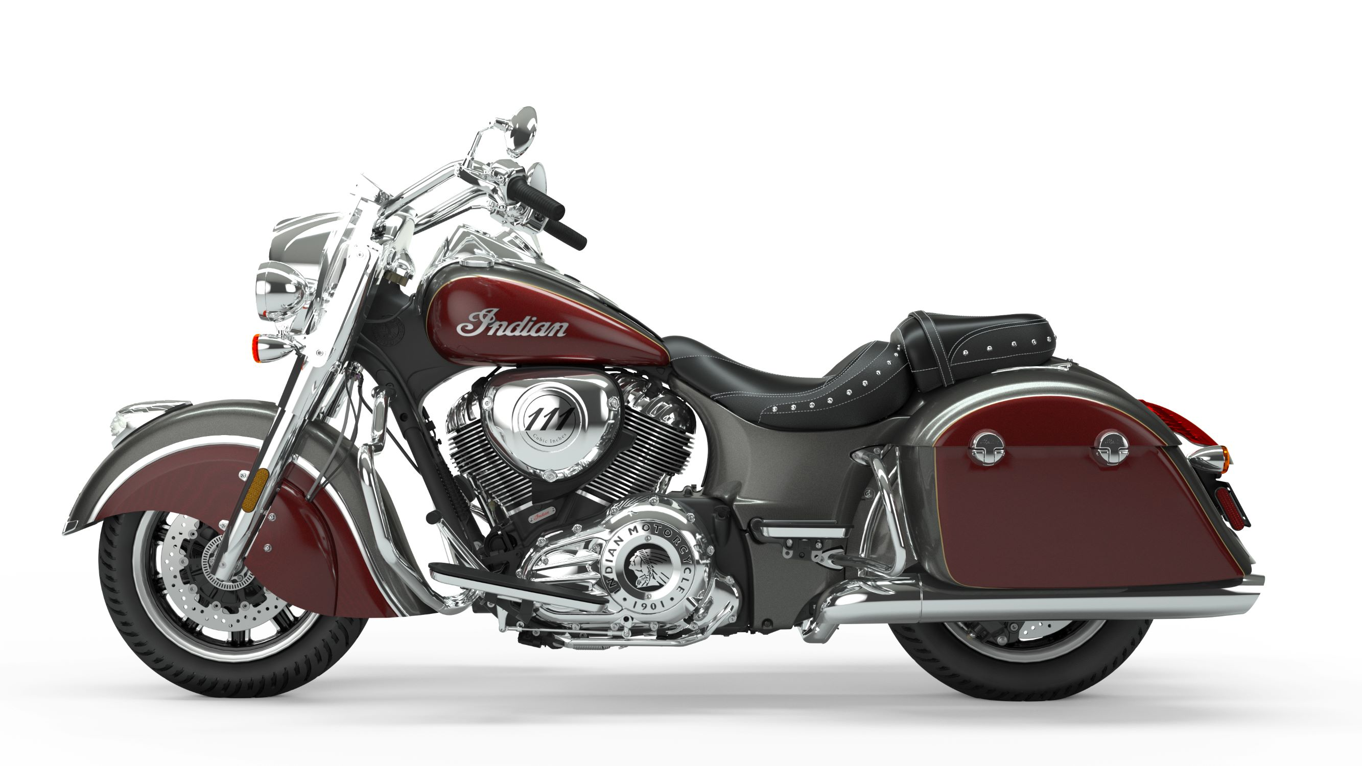 2019 Springfield Steel Grey over Burgundy Metallic Left