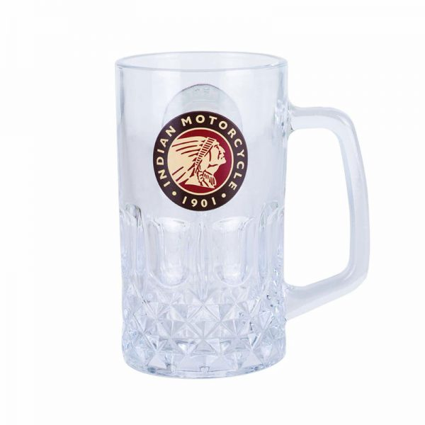 Indian Motorcycle Glass Beer Mug